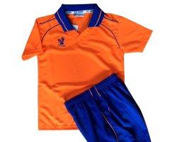 画像1: フライホーク襟付き子供用オリジナルユニフォーム上下セット(オレンジ)