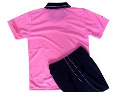 画像2: フライホーク襟付き子供用オリジナルユニフォーム上下セット(ピンク)