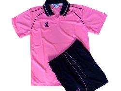 画像1: フライホーク襟付き子供用オリジナルユニフォーム上下セット(ピンク)