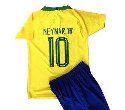 画像1: ネイマール#10 ブラジル代表(ホーム)18/19 子供用上下セット