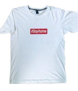 画像1: STAYHOMEシャツ(白)